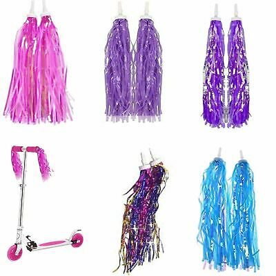 Kids Bicycle Handlebar Bike Scooter Streamers Sparkle Tassel Ribbon • 3.99£