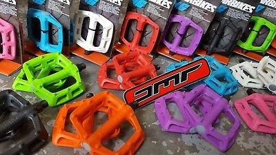 DMR V6 Plastic Pedals (PAIR) Mountain Bike BMX (9/16 ) Flat Platrform (NEW) • 17.99£