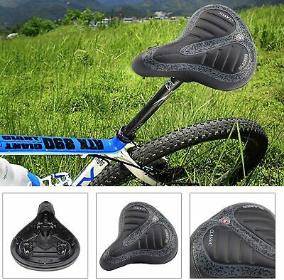 Extra Wide Comfy Cushioned Bike Seat Soft Padded Bicycle Gel Universal Saddle • 6.99£