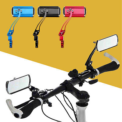 1 Pair Bicycle Cycling Handlebar Rear Views Rearview Mirror Colourful Rectangle • 8.99£