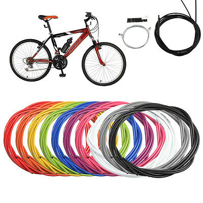 MTB Bike Bicycle COMPLETE Front & Rear Set Inner Outer Jagwire Gear Brake Cable • 6.25£