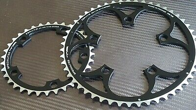 (2x) TA Zephyr Chainrings (34 + 50t) COMPACT Chain Ring 9/10s Road Bike (NEW)  • 29.99£