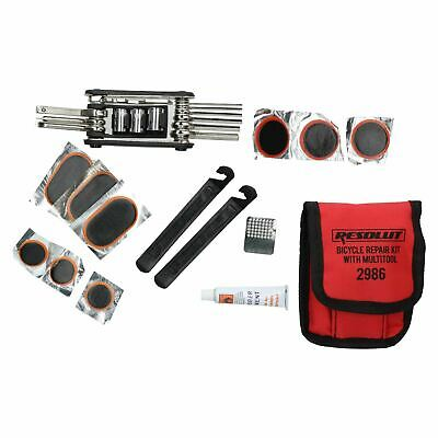 Bike Bicycle Multi-Tool Function Wrench And Inner Tube Puncture Repair Kit 16pc • 9.40£