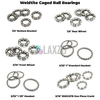 Weldtite Caged Bike Ball Bearings - Wheel - Headset - Bottom Bracket • 1.88£
