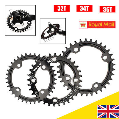 Bike Narrow Wide Round Oval Chainring Ring BCD 32-36T 104mm Single Tooth Chain • 9.99£