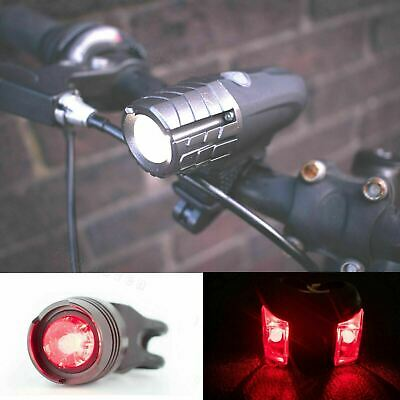BRIGHT USB Rechargeable Bike Bicycle Cycle Front LED Rear Tail Lights Light Set • 7.55£