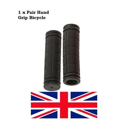 HAND GRIP Soft Handlebar Grips Black BMX MTB Cycle Road Mountain-Bicycle-Scooter • 3.45£