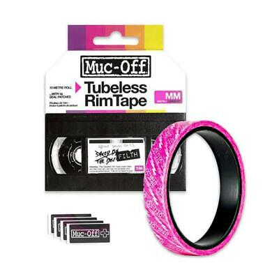 Muc Off Tubeless Bicycle Rim Tape 30mm X 10 Meter Roll With 4x Seal Patches • 12.99£