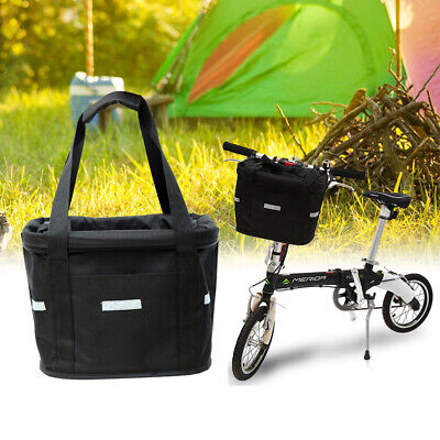 Bicycle Front Basket Storage Bike Cycle Folded Pet Cat Dog Carrier Bag Removable • 20.95£
