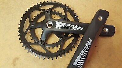 FSA Tempo Chainset COMPACT (50+34t) Road Bike Crankset (Square) 165mm (NEW) • 47.99£
