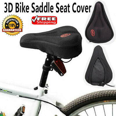 Bicycle 3D Soft Silicone Gel Saddle Seat Cover MTB Road Bike Cycling Cushion Pad • 5.75£