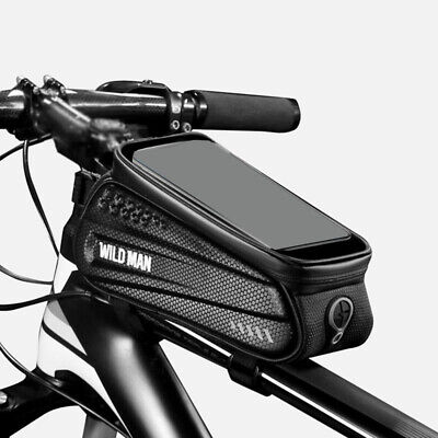 1*Waterproof Cycling Bicycle Front Tube Frame Bag Phone Holder Pouch Bike Useful • 14.85£