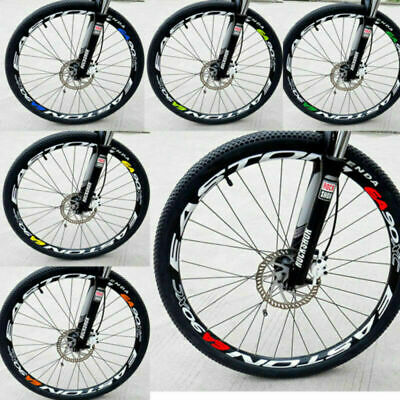 4X Mountain Road Bike Bicycle Wheel Rims Light Reflective Safety Stickers Decal • 8.66£