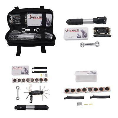 Bike Cycle Bicycle Frame Tool Puncture Repair Kit Carry Case Bag With Pump Set • 9.59£