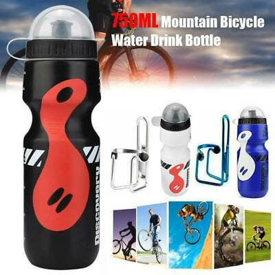 750ML Mountain Bike Bicycle Cycling Water Drink Bottle And Holder Cage Kit • 4.99£