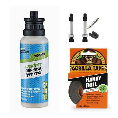 Tubeless Tyre Kits For Road And Mountain Bikes - 4 Bundles • 24.99£