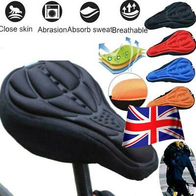 Bike Bicycle 3D Mountain Gel Silicone Saddle Seat Cover Pad Padded Soft Cushion. • 2.99£