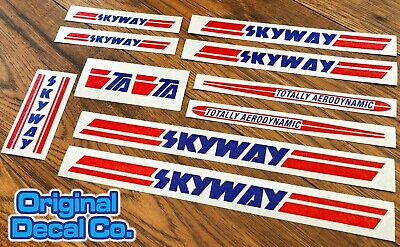 Skyway TA Bmx Stickers Set - Bike Replacement Frame & Forks Retro Decals • 9.99£