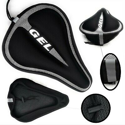 Bike Seat Cover | Soft Gel Silicone Bicycle Saddle Padded | Breathable, Non-Slip • 11.49£