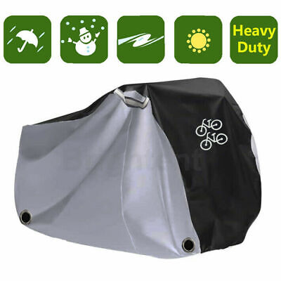 Heavy Duty Waterproof Bicycle Cover For 2 Bikes Scooter Moped UV Protect KBK2H • 11.97£