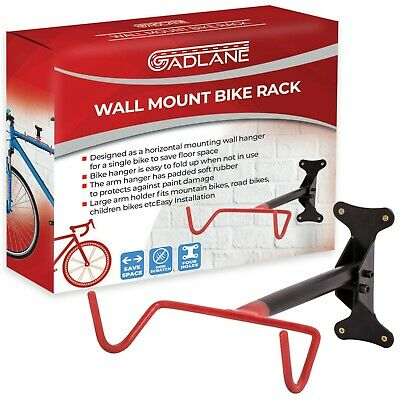 GADLANE Bicycle Wall Mount Bike Rack Space Saving Hanger Storage With Screws • 8.99£