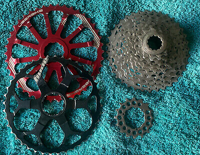 Shimano XT 10 Speed Cassette (with 2 Expander/Extender Cogs 40/42t) • 20£