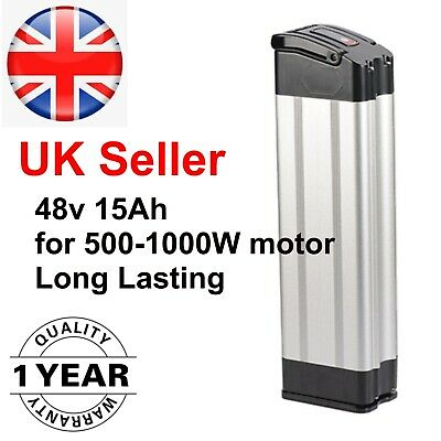 48v 15Ah SilverFish Ebike Battery Silver Li-ion Lockable With Charger • 249£