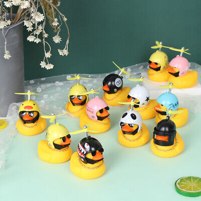 Car Bicycle Decorate Lovely Small Yellow Duck With Sound Helmet Outdoor Spor MY • 3.71£