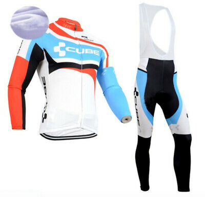 Men's Long Sleeve + Cycling Shorts Jersey Set Trousers With Straps Bike Wheel • 32.62£