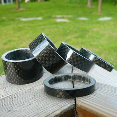 Bike Bicycle Carbon Fiber Washer Headset Stem Spacer 3/5/10/15/20mm 1-1/8  Sell • 3.99£