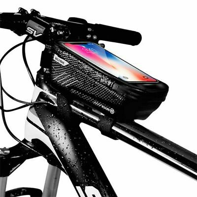 Waterproof Mountain Bike Front Bag Pannier Bicycle Mobile Phone Holder Pannier • 9.99£