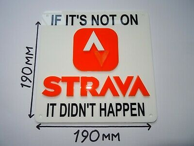 STRAVA Sign - Cycling - Running - Sports - Sign: 190x190mm • 2.20£