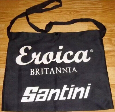 Santini Bicycle Cycle Bike Eroica Britannia Cotton Musette Black - One Size NEW • 6£