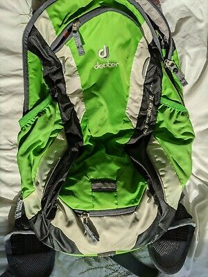 Deuter Superbike 18 EXP Backpack with Rain Cover, Helmet Net And Wind Shield • 15£