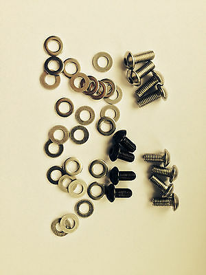 Bike Frame/Bottle Cage Bolts + Washers SS HTS Button Head M5 X 10, 12, 16, 20mm • 2.80£