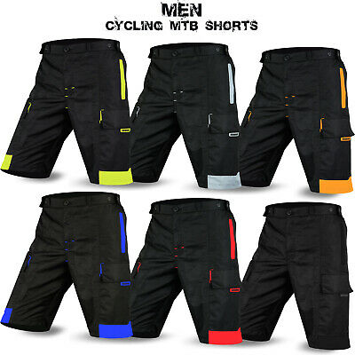 MTB Cycling Shorts Off Road Shorts Downhill Unisex Design Black Size S To XXL • 13.49£