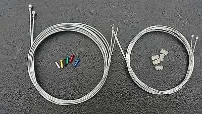 Road Racing Bike Gear & Brake Inner Wire Cable Set Fit Shimano 105 Tiagra #20 • 6.99£