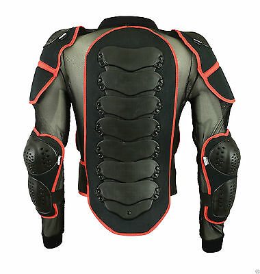 Body Armour Motorcycle Motorbike Motocross Spine Protector Guard Bionic Jacket • 26.99£