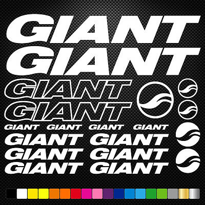 Compatible Giant Vinyl Decal Stickers Sheet Bike Frame Cycle Cycling Bicycle Mtb • 3.88£