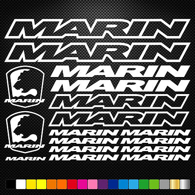 Compatible Marin Vinyl Decal Stickers Sheet Bike Frame Cycle Cycling Bicycle Mtb • 3.88£