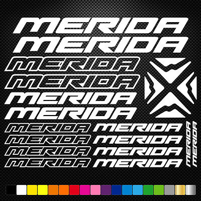 Compatible Merida Vinyl Decal Stickers Sheet Bike Frame Cycle Cycling Bicycle  • 3.88£