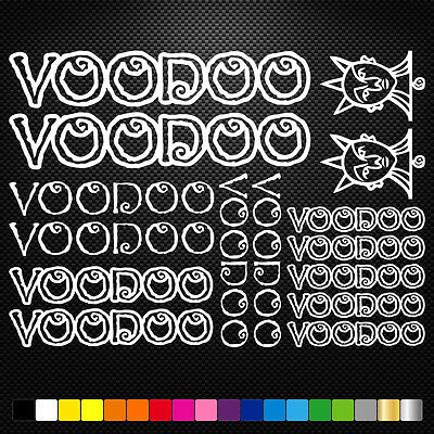 Compatible Voodoo Cycles Vinyl Decal Stickers Sheet Bike Frame Cycling Bicycle  • 3.88£