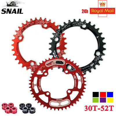 UK STOCK 104BCD 30T-52T Narrow Wide Bike MTB Chainring Single Tooth Chain Ring • 22.12£