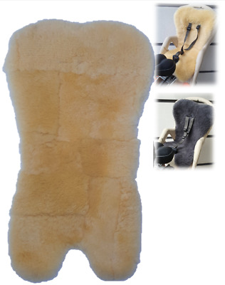 Real Sheepskin Liner For Children Baby Kids Bike Bicycle Cycle Rear Seat Carrier • 29.07£