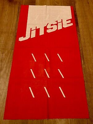 Jitsie Multi Scarf Solid Neck Warmer Buff Red/White Trials Cycling Road Moto • 10£