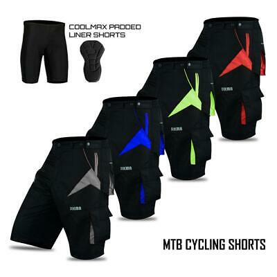 MTB Shorts Downhill Off Road Racing Baggy Style/Padded Liner Bicycle Shorts • 16.99£