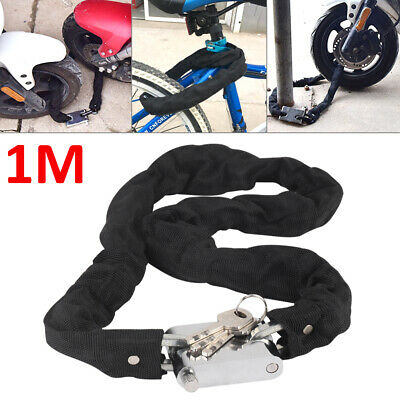 1M Heavy Duty Motorbike Motorcycle Bicycle Chain Lock Padlock Bike Cycle Moped • 7.29£