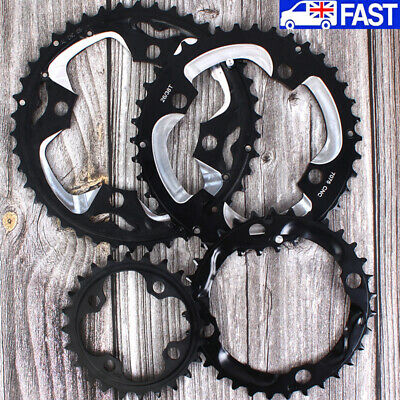 104bcd 64bcd 24/26/32/38/42T Double/Triple Speed Chainring MTB Bike Crankset • 11.99£