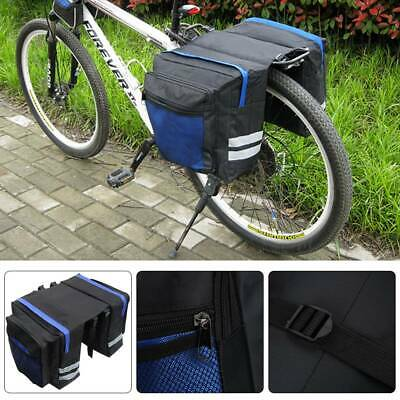 Outdoor Bike Bicycle Cycling Rear Seat Double Panniers Bag Trunk Rack Pack Bags • 8.99£