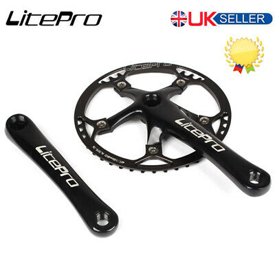 Litepro 170mm Crank 130BCD 45-58T Chainring Road Folding Bike Chainset Sprocket • 45.39£